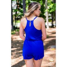 True Blue Romper Enter the code FASHION under 'view cart' before checkout for a discount!