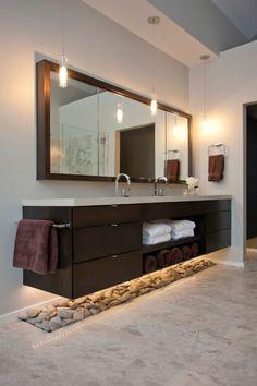 Bathroom - pebbles