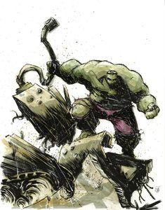 Hulk Smash F'n Tank by Skottie Young