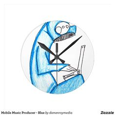 Mobile Music Producer - Blue Round Clock