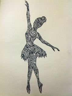 zentangle ballerina template - Google'da Ara