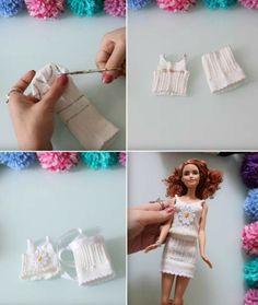 Здесь вы найдете разнообразные инструкции и идеи самодельных нарядов. Юбки, платья, обувь и другие аксессуары для того, чтобы нарядить ваших кукол.