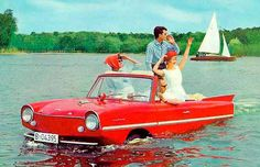 """Special Agent Oddwick recently enjoyed an Amphicar sighting in Florida, although he didn't fully realize it at the time. Instead, he reported seeing a """"boat/car thingy"""" and noted that he didn't believe the propellers were functional. Triumph Motor, Hot Rods, Automobile, Amphibious Vehicle, Auto Retro, Suzuki Jimny, Weird Cars, Strange Cars, Crazy Cars"""