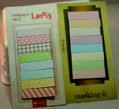 cute sticky tabs for project life, card making, and scrapbooking
