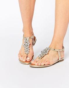 Sandalias planas adornadas Fiance de New Look