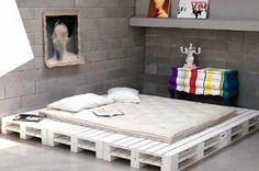 Ahşap paletten yapılmış yatak tasarımları
