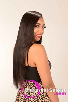 right View of a Long Silk Press Hairstyle Latest Hairstyles, Straight Hairstyles, Curly Hair Styles, Natural Hair Styles, Bombshell Hair, S Curl, Best Hair Salon, Curl Pattern, Step By Step Hairstyles