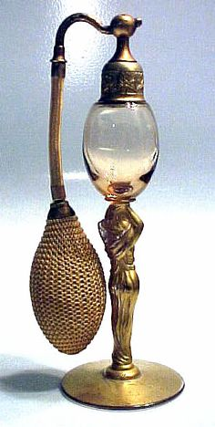 1928 Art Deco FIGURAL LADY Devilbiss Perfume Atomizer