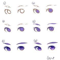 Come colorare gli occhi #manga #tutorial