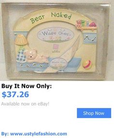 Baby Picture Frames: Widdle Ones Bear Naked Picture Photo Frame Ceramic Handpainted BUY IT NOW ONLY: $37.26 #ustylefashionBabyPictureFrames OR #ustylefashion