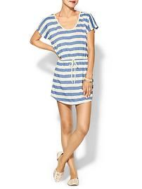 Pim + Larkin Libby Striped Swim Coverup