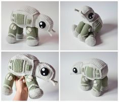 How To Crochet an AT-AT Walker From Star Wars! Pattern Available Now | KnitHacker