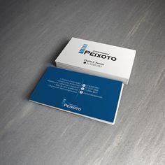 Cartão de visitas com acabamento em prolan fosco e verniz localizado. #BusinessCard #CartãoDeVisita #Blue #Prolan #UVSpot #Azul #VernizLocal #White #Branco #Construtora #Creative #GraphicDesign