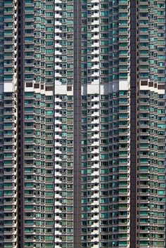 "Saw this & thought, ""That looks like where I lived in Hong Kong this summer."" Clicked on the link... It is where I lived in Hong Kong this summer. 55th floor. Hong Kong as seen by artist Michael Wolf"