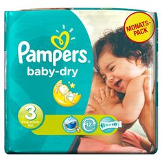 11-25KG Couches Pampers BABY DRY TAILLE 5 1 Mois de Consommation 144 Couches