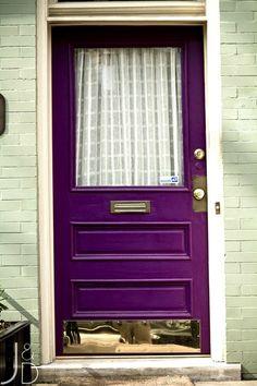 Purple Front Door #f