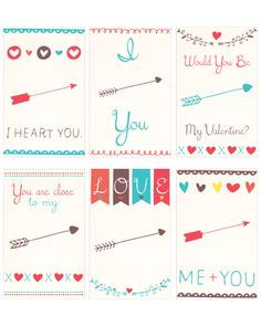 Free Printable Valentines Day Tag Cards | [ One Velvet Morning ] Project life