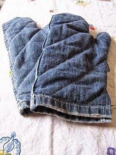 Jeans oven mitten - no tutorial