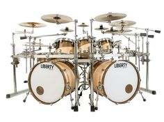 Liberty Drums Rock Series drum set inlay swirl