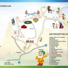 Familienpark – HUBHOF Planer, Snoopy, Map, Fictional Characters, Carousel, Shovel, Amusement Parks, Outdoor Camping, Location Map