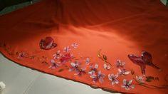 Decorazione orientale  su stoffa #decorazionesustoffa #pittura #stoffa