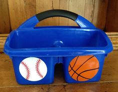 Personalized Shower Caddy. Must Have for Overnight Camp. Customize with your favorite sports by MonogramCollection on Etsy