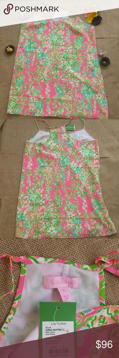 NWT Lilly Pulitzer Dusk Strappy Silk Slip Dress Be the appl of everyone's eyes in this colorful dress. This silk slip dress will slim your curves and make you feel fun and flirty. It is a racerback and 100% silk. Lilly Pulitzer Dresses