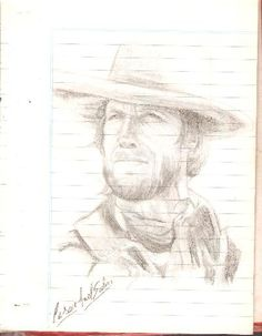 Clint Eastwood-tecnica lapiz