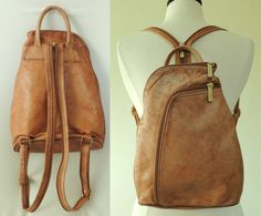 Vintage Authentic VALENTINO Italian Leather Backpack Purse.