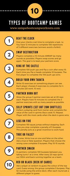 53 Bootcamp Class Ideas for outdoor/indoor group fitness trainers. You'll find tons of bootcamp ideas, circuit training ideas and fun bootcamp games. Pilates Workout, Pilates Reformer, Band Workout, Boot Camp Workout, Workout Circuit, Workout Body, Workout Plans, Gym Body, Cardio