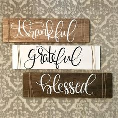 Grateful thankful blessed sign grateful thankful blessed thankful grateful blessed sign thankful grateful blessed thankful and blessed DIY Wood Signs Blessed grateful Sign Thankful Diy Wood Signs, Rustic Wood Signs, Wood Pallet Signs, Wall Signs, Wooden Signs With Sayings, Fall Wood Signs, Painted Wooden Signs, Wood Signs For Home, Quotes For Wood Signs