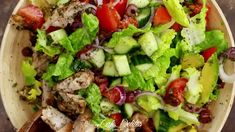 Grilled Lemon Herb Mediterranean Chicken Salad - Cafe Delites Garlic Parmesan, Garlic Sauce, Garlic Chicken, Butter Chicken, Chicken Salad, Baked Chicken, Chicken Recipes, Thai Chicken, Garlic Shrimp