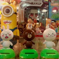 Don't you love cute bobble head toys? These ones from Line are fun. Apparently, the iconic characters born out of the messaging service are more popular than the app itself!
