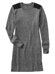 Merino shoulder-patch dress Product Image