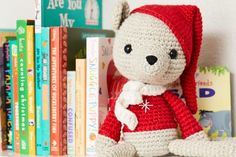 Welcome to our December Amigurumi CAL. This month we are making this Christmas mouse in a cute elf outfit. It's not a complicated pattern to crochet and only us