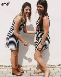 novidades lindas para todas  #lojaamei #listras #vestido #novidades