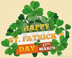 Illustration about Poster tangled with clovers around a greeting sign for St. Illustration of leaf, four, celebration - 88673305 17 Day, Clovers, Leprechaun, St Patricks Day, Tangled, Illustrations Posters, Plant Leaves, Celebration, Happy