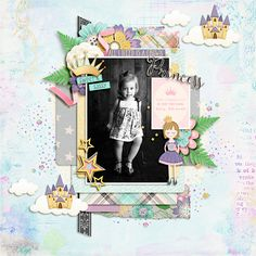 She's sweet with a touch of sass. Full of personality. Leaves a little sparkle wherever she goes. She's a princess, of course! The latest collab from Wendy and Blagovesta, Just Call Me Princess, was designed with just such a girl in mind. Filled with feminine shades of pink and purple and packed with an edgy punch of black, this kit is fit for a princess - even one with an attitude!