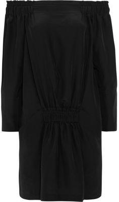 Tod's - Off-the-shoulder Silk Mini Dress - Black