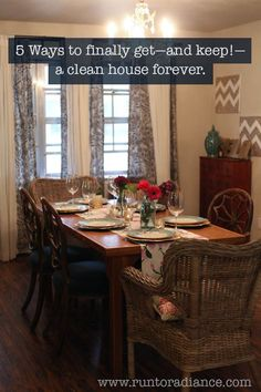 5 ways to get and keep a clean house forever from Run to Radiance --- Practical tips for a clean and organized home without hours of work!