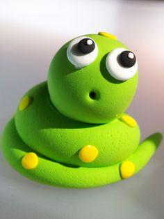 Cute Snake Cake Topper