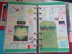 Colorful planner pages