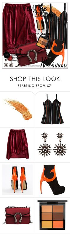 """""""#PolyPresents: New Year's Resolutions"""" by allanaaa11 ❤ liked on Polyvore featuring Steiger, Concrete Minerals and MAC Cosmetics"""