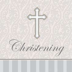 3 Ply Beverage Napkins Christening Devotion/Case of 192