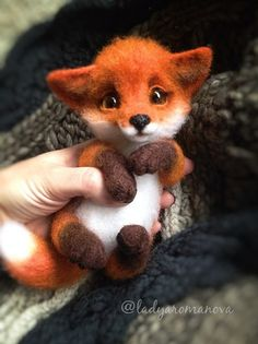 Toddler fox. Incredibly well crafted. I'm in love in this cutest faux fox toy.