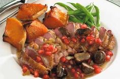 duck with pomegranate chestnut sauce duck with pomegranate chestnut ...