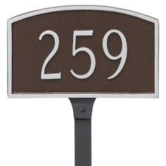 Montague Metal Products Prestige Address Plaque Finish: Sand/Silver