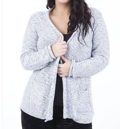 Knitted Cardigan With Front Pockets PLUS SIZES AVAILABLE via Plus Size Online Clothing Store. Click on the image to see more!
