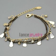 Classical rhinestone decoration chain link bracelet