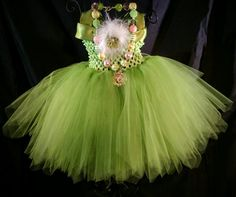 Hey, I found this really awesome Etsy listing at https://www.etsy.com/no-en/listing/252338039/tinker-bell-inspired-tutu-dress-green